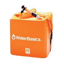 WaterBasics 60 Gallon Home Emergency Water Kit + Filter