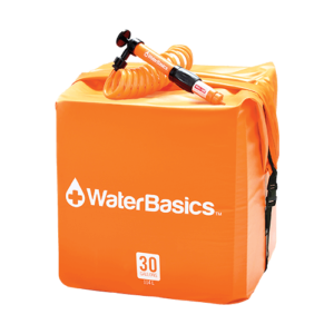 WaterBasics 30 Gallon Home Emergency Water Kit + Filter