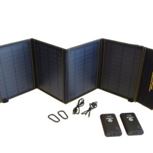 SunJack 20W USB Portable Solar Charger + 2 Powerbanks