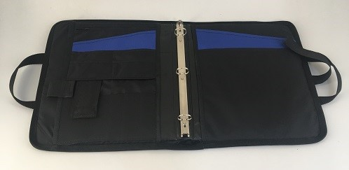 Aegis-Armored-Notebook-Blue-Opened